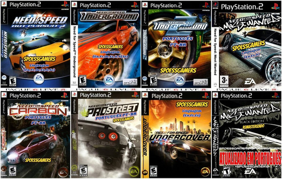 Need For Speed Collection (8 Jogos) Ps2 Desbloqueado Patch