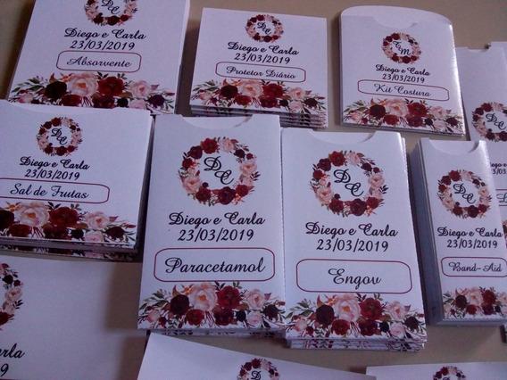 60 Rótulos Kit Toalete Personalizado Casamento Marsalafloral