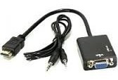 Cabo Conversor De Hdmi Para Vga Com Audio - Projetor, Xbox
