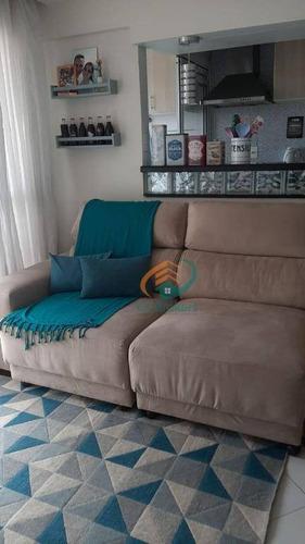 Imagem 1 de 30 de Apartamento Com 2 Dormitórios À Venda, 53 M² Por R$ 275.000,00 - Ponte Grande - Guarulhos/sp - Ap2727