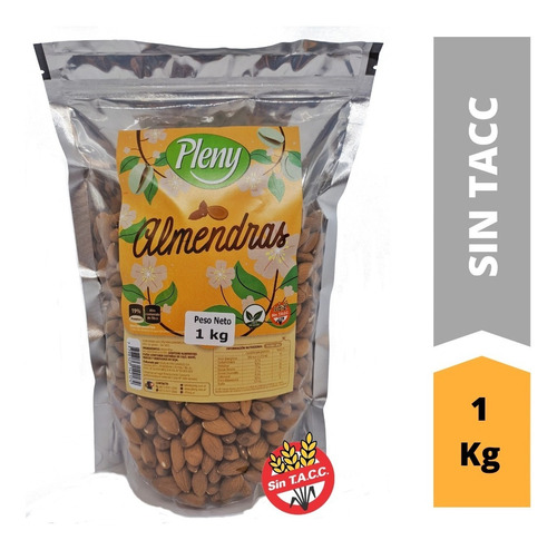 Almendras Peladas X 1 Kg - Libre De Gluten Sin Tacc