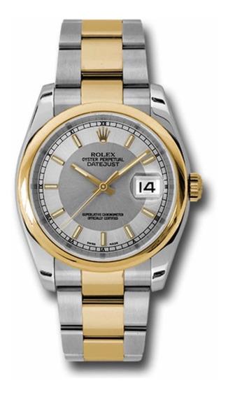 Rolex Datejust Aço E Ouro 36mm