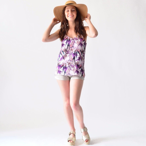 Blusa Tirantes Dama Rack & Pack Doble Vista Verano Moda