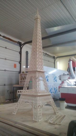 Vector Para Corte Láser De Torre Eiffel De 2 Metros, En 6mm