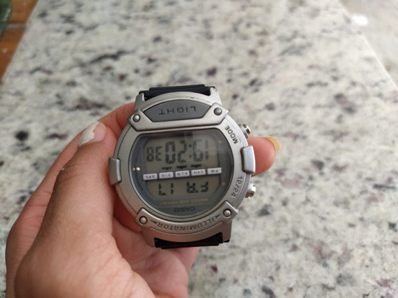 Relógio Cassio Steel Back Raro