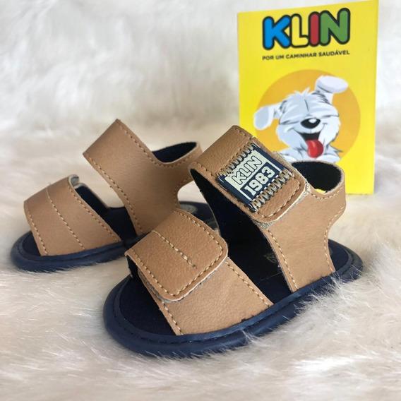 Sandália Sapato Bebê Klin Menino - 16336