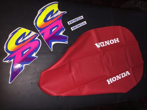 Honda Cr 80 Combo Tapizado Mas Calco Opcion 2
