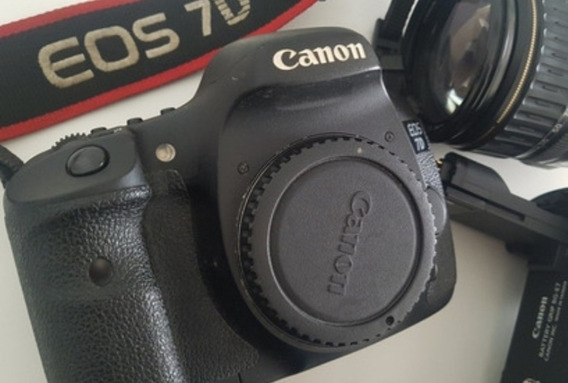 Canon 7d 45mil Clicks Com 2 Bat Mais Carregador