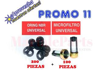 100 Microfiltros Universal 200 Oring Universales Inyectores