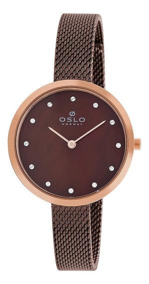 Relogio Oslo Oftsss9t0009 N1nx Analogico Marrom