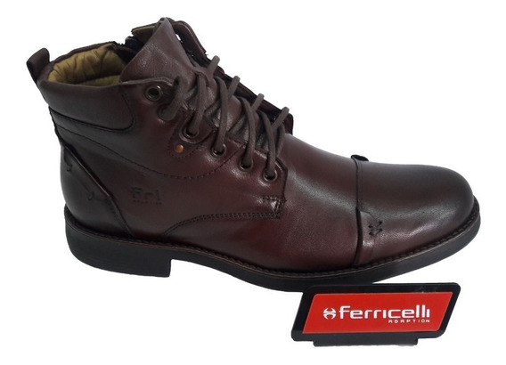 Coturno Ferricelli Couro Browncafé Vg49601 Loja C N N