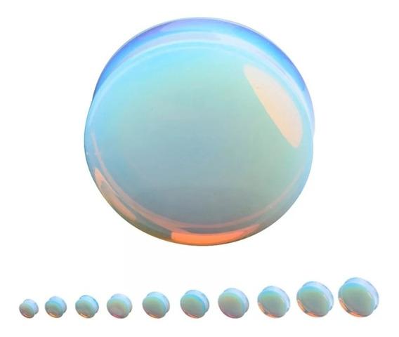 Plug / Alargador Pedra Da Lua/opalita 6,8,10,12,14mm - Par