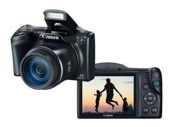 Câmera 16 Mp Canon Sx400 Is C/ Estojo, Cabo Usb Cartão 8gb
