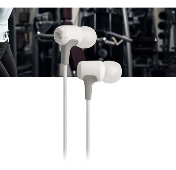 Fone De Ouvido Jbl E15 Branco Intra Auricular In Ear