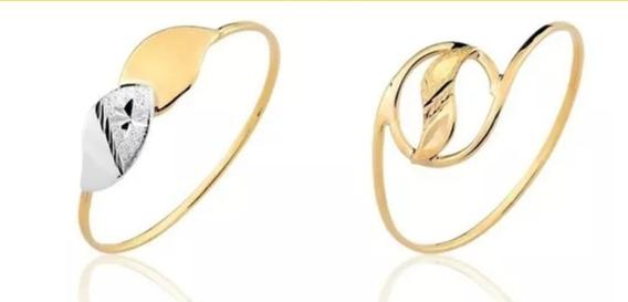 2 Anéis Coleção Em Ouro 10k (ouro Legítimo)