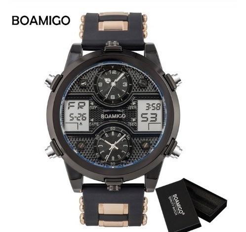 Relógio Masculino Original Casual Militar Social Luxo Preto