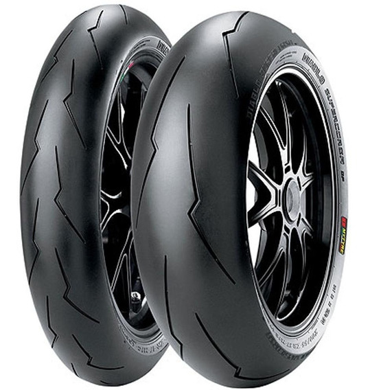 Par Pneu Cb650 120/70r17 + 180/55r17 Diablo Sp Corsa Pirelli