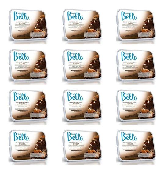 Depil Bella Cera Depilatória Negra 1kg (kit C/12)