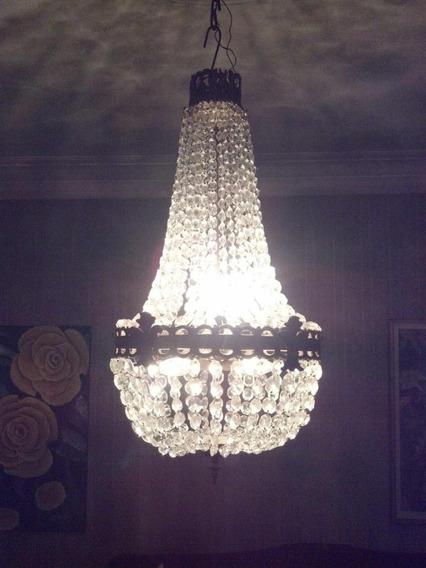 Lámpara Imperio Grande Con Caireles Cristal