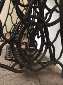 Mesa Maquina Costura Singer Antiga + Linda Pedal Funciona