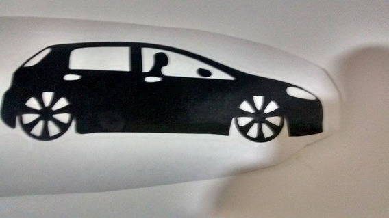 Evoluçao Fiat Punto Personalizado Preto Fosco Adesivo