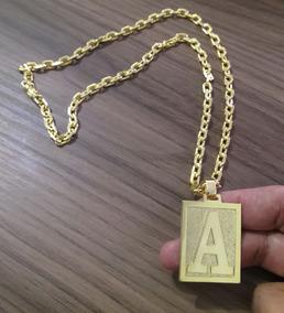 Cordão Cadeado 70cm 6mm Ping A Banhado A Ouro 18k