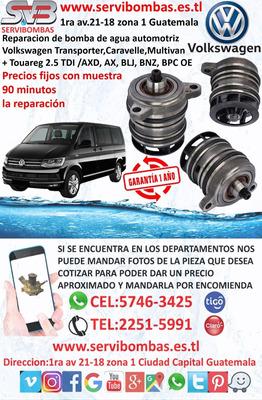Bombas De Agua Volkswagen Transporte,multivan Guatemala