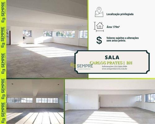 Imagem 1 de 18 de Sala Para Alugar, 179 M² - Carlos Prates - Belo Horizonte/mg - Sa0034