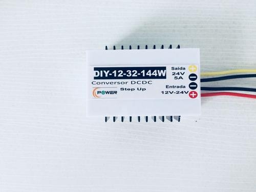 Conversor Entrada 12v -23v  Saída 24v Dc 5 A Boost Step Up