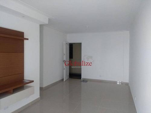 Imagem 1 de 28 de Apartamento Com 2 Dormitórios À Venda, 90 M² Por R$ 430.000,00 - Encruzilhada - Santos/sp - Ap0075