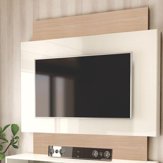 Painel Para Tv Até 55 1,40x1,32m Tb131- Natural Off White