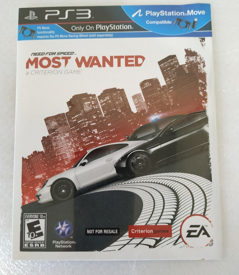 Need For Speed Most Wanted Ps3 Original Lacrado