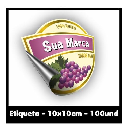 Etiqueta/rótulo Adesivo Até 10x10cm - 100und