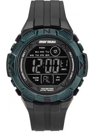 Relógio Masculino Mormaii Mo2908aa/8v Digital Preto Negativo