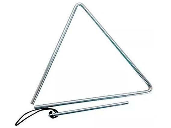 Triângulo Musical Profissional Forró Xote Baião Praia 30cm