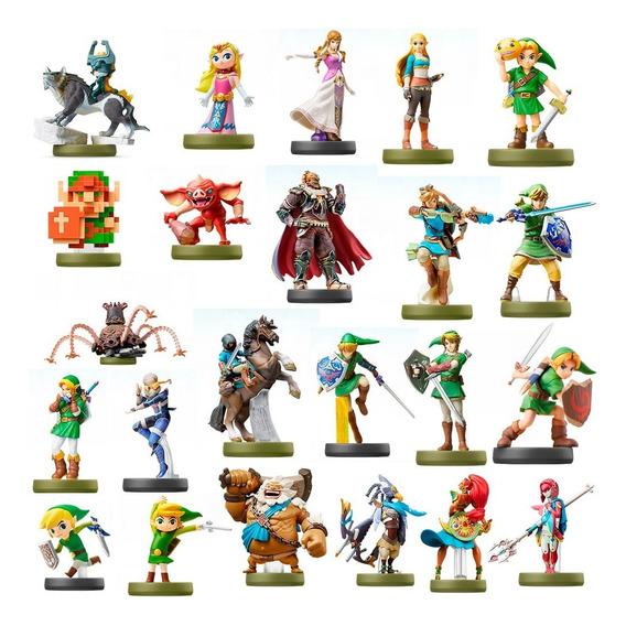 Amiibo Zelda Breath Of The Wild - Kit Com 23 Cards Que Funcionam Como Os Bonecos - Funcionam No Wii U Switch 3ds E 2ds