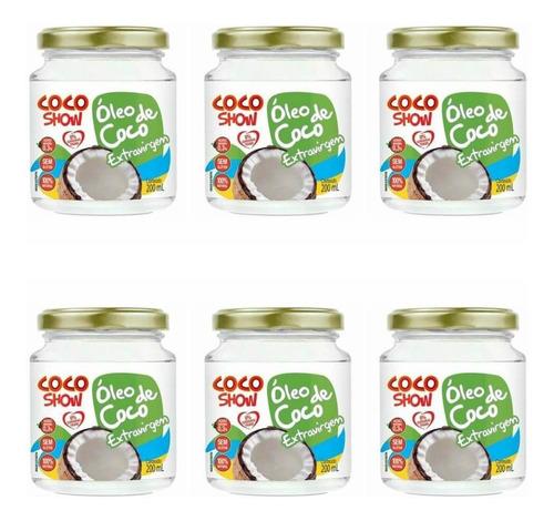 Imagem 1 de 1 de Coco Show Óleo De Coco Extra Virgem 200ml (kit C/06)