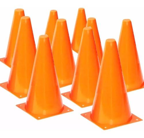 Imagen 1 de 4 de Pack 10 Conos 17cm Rigidos Base Cuadrada Futbol Coordinacion