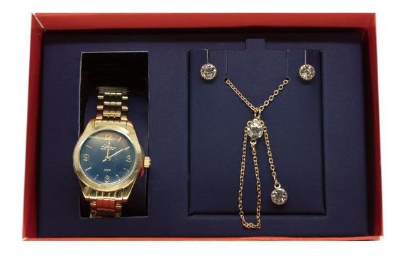Kit Relógio Condor Feminino Co2036kua/k4a Dourado