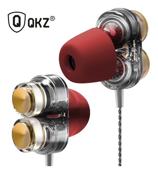 Fones De Ouvido Dual Driver Profissional Qkz Kd7