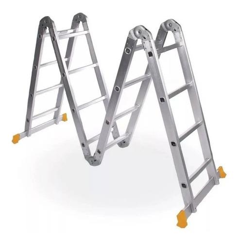 Imagen 1 de 6 de Escalera De Aluminio Plegable 4x4 4.60 Mts Lusqtoff Le 400