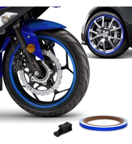 Friso De Roda Refletivo 7mm Com Aplicador Adesivo Azul 3m