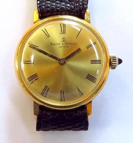 Baume & Mercier Relógio Pulso Plaque Ouro Números Romanos