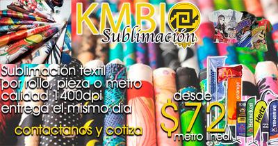 Sublimacion Textil X Metro, Rollo Y Pieza O Prenda