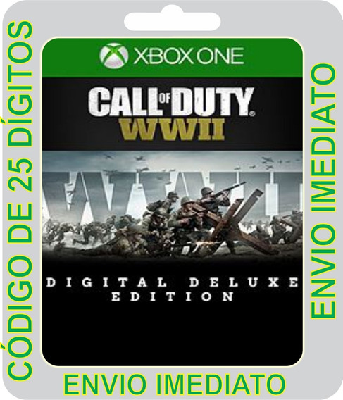 Call Of Duty Wwii - Digital Deluxe Xbox One -25 Dígitos