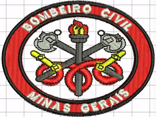 Patch / Distintivo Bordado Bombeiro Civil Ii