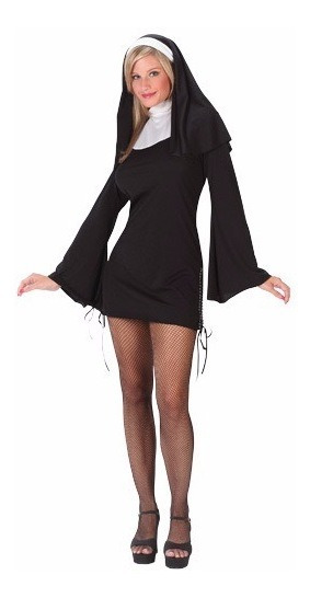 Disfraz Adulto Mujer Monja Traje Tradicional Sexy Halloween
