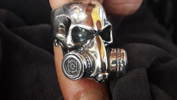 Anel Prata Masculino Motociclista Silver Bones