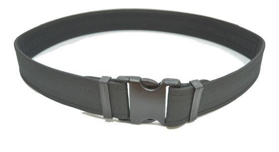 Cinturon Tactico Negro Hebilla Americana Reforzado , Houst