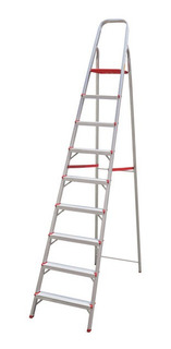 Escada De 9 Degraus Suprema Botafogo Lar&lazer - Alumínio